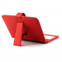 "Red Leather Case with USB Interface Keyboard for 8"" MID Tablet PC - $20.00"