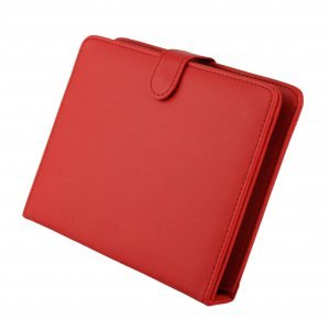 """Red Leather Case with USB Interface Keyboard for 8"""" MID Tablet PC"""