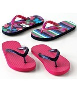 Jumping Beans Girls Flip Flops Beach Summer Sandals Shoes Set of 2 - £10.44 GBP