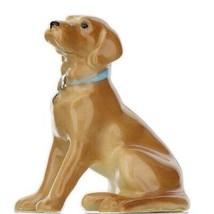 Hagen Renaker Dog Labrador Retriever Sitting Golden Ceramic Figurine