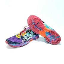 Women's ASICS GEL-NOOSA TRI 8 Running Shoes -Sz 9- Pink Purple Green Yel... - $38.69