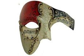 Gold Lining RED Musical Half Face Venetian Masquerade Mask Phantom Desig... - $14.55