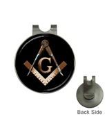 Freemason/Mason/Masonic Logo Golf Ball Marker + Hat Clip-02 - $11.00