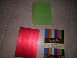 """RECOLLECTIONS FOILPAPER PAD 5x7""""  16 SHEETS + 16 GLITTER, + 7 SOLID FOIL... - $12.86"""