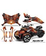 CAN-AM BRP SPYDER F3 GRAPHICS KIT CREATORX DECALS SPIDERX ORANGE - $387.95