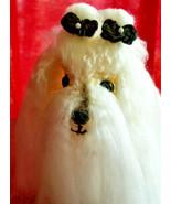 Amigurumi Maltese Breed Puppy Dog Crochet Handmade Figurines Bren - $45.95