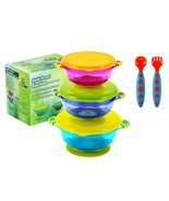 Stay Put Spill Proof Stackable Baby Suction Bowls 3 Sizes for Toddlers  - $24.99