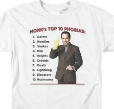 Monks Top 10 Phobias t-shirt detective drama comedy series graphic tee NBC353 image 2