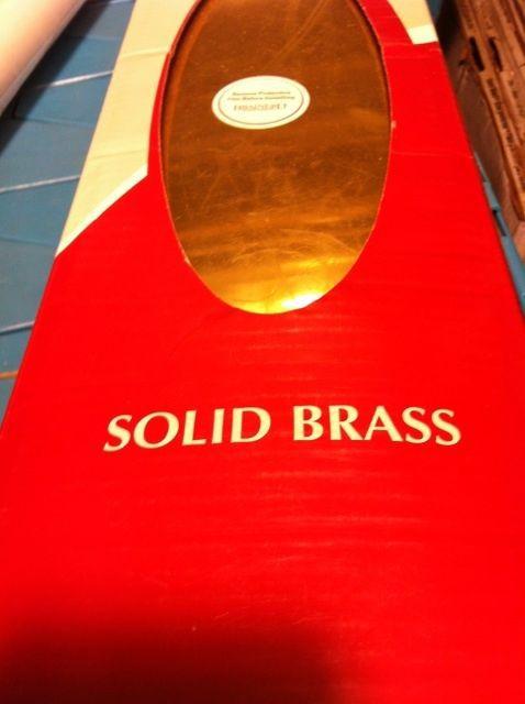 New brainerd 6x30 SOLID BRASS kick plate C6630SR PL R 30969