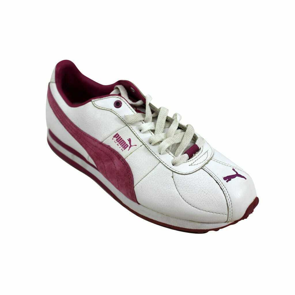 Puma Turin Leather White/Festival Fuchsia 342381 07 Women's Size 9