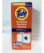 Tide Washing Machine Cleaner 3 Count Box Odor Remover Fresh Scent, New - $11.96