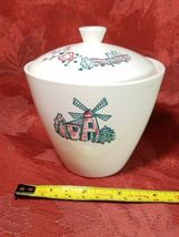VINTAGE WINDMILL COVERED SUGAR BOWL MADE IN USA image 8