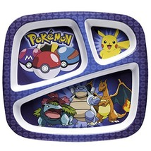 Zak Designs POKE0010 Pokemon Featuring Pikachu 3 Section Divided Plate W... - $16.78