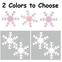 Confetti Snowflake - 2 Colors to Choose 14 gms tabletop confetti bag FRE... - $3.95+