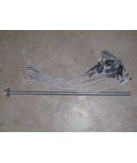 """2 Dozen WOLF FANG ANCHORS w/ 24""""CABLE & DRIVER, trapping stakes, traps, ... - $49.83"""