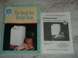 Toastmaster Bread Maker Machine Manual Recipe Book for Model 1194  - $14.01