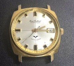 Vintage Rene Rochard Automatic Watch Calender Brevets Movement For Parts  - $47.52