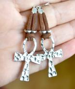 Ankh earrings, Ankh, Key of Life Earrings, Egyptian Cross Earrings, E555 - $11.99