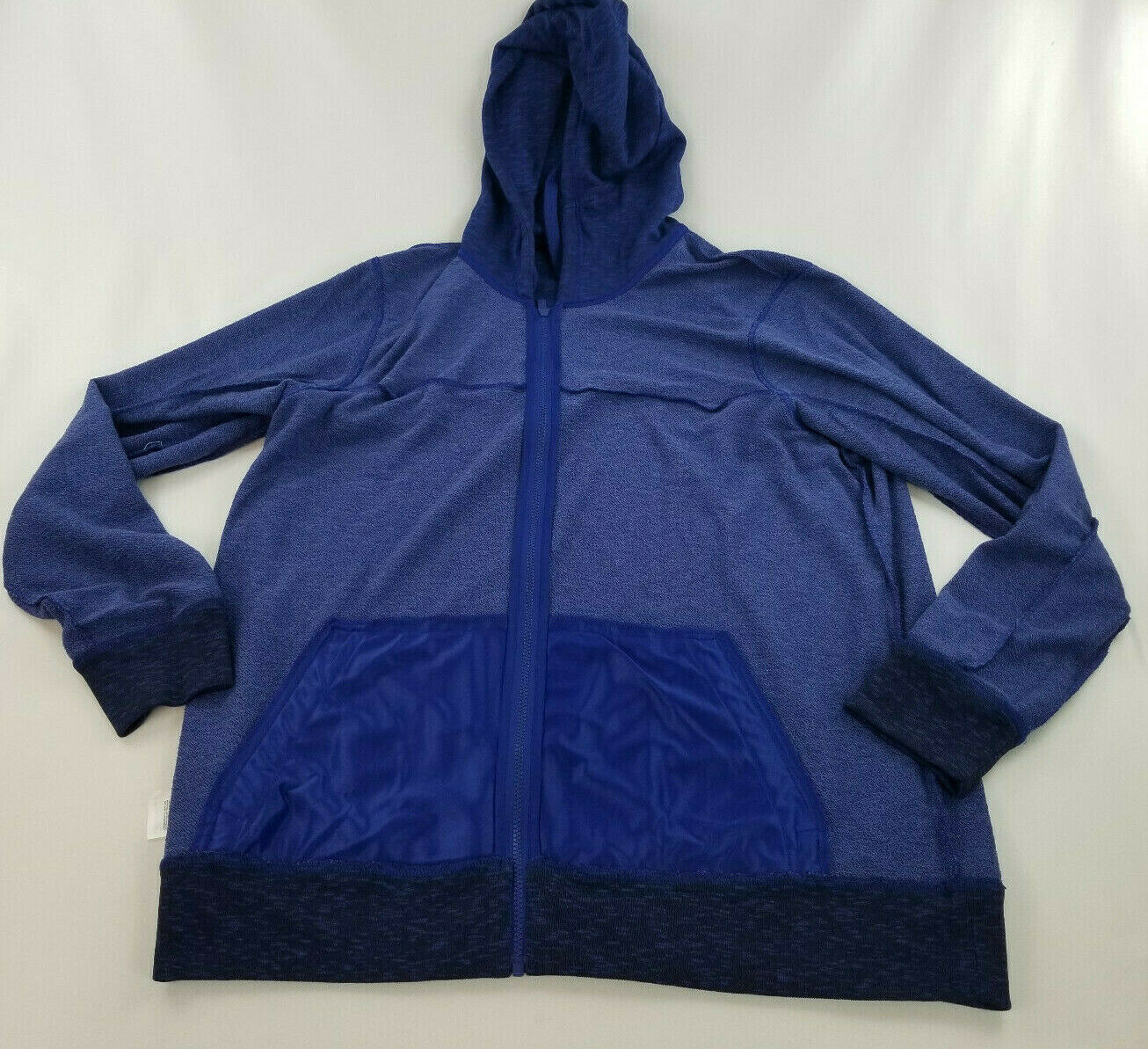 new ADIDAS men jacket hoodie full zip CW9658 blue 2XL MSRP $75 image 9