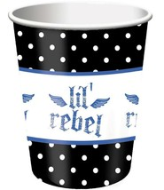 Lil' Rebel 1st Birthday 9 oz Paper Cups 8 Per Package Birthday Party Sup... - $3.91