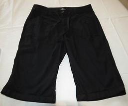 St. Johns Bay  Bermuda black shorts 4P 4 P Petite womens juniors GUC - $14.35