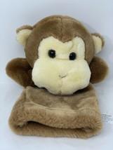 "Lillian Vernon Plush Brown Monkey Hand Puppet 12"" Chimp Pretend Play Vintage Toy - $13.99"