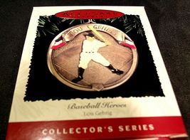Hallmark Handcrafted Ornaments Baseball Heroes Satchel Paige and Lou Gehrig AA-1 image 5