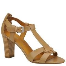 Franco Sarto Giada Womens Tan Clay Leather High Heels Sandals Shoes -10 - $35.99