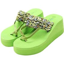 A Pair Fashion Flip-flops Leisure Slippers Prevent Slippery Slipper(Green)