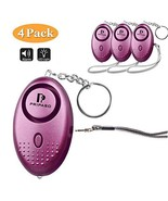 Personal Security Alarm Keychain with LED Light, Emergency Self-Defense ... - $14.24