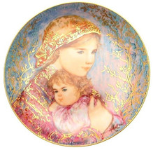 "1986 Edna Hibel ""Emily & Jennifer"" Limited Edition Collectible 18k Plate... - $59.99"