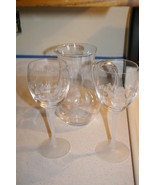 AVON Hummingbird Collection 24% Lead Crystal Goblets and Pitcher - $49.99