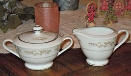 "International Silver Co. Fine China ""326 Springtime"" Creamer & Sugar Bowl, Japan - $34.64"