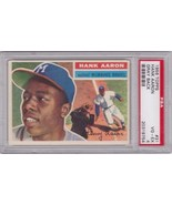 Hank Aaron 1956 Topps #31 (Gray Back) PSA 4 VG-EX - $139.00