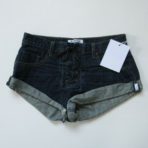 NWT One Teaspoon Bandits Short in Cowboy Lace-up Denim Jean Shorts 26 - $44.00