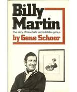 billy martin by gene schoor baseball book new york yankees first edition - $6.99