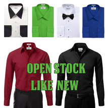 New Open Box Repackaged Men's Long Sleeve Dress Shirts Multiple Colors