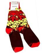 1 Pair TeeTurtle Marvel DEADPOOL Men Crew Socks (One Size Fits All) - $7.57