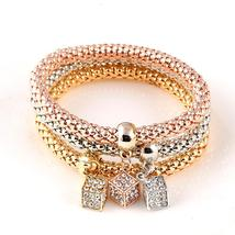 3 PC/Set Crystal Butterful Bracelet&Bangle (3), Fashion Round Charm Pend... - $10.89