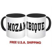 Mozambique : Mug Flag College Script Calligraphy Country Gift Mozambican... - $13.37+