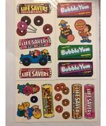 Vintage Scratch N Sniff Life Savers & Bubble Yum Sticker Sheets LOT RARE - $99.99