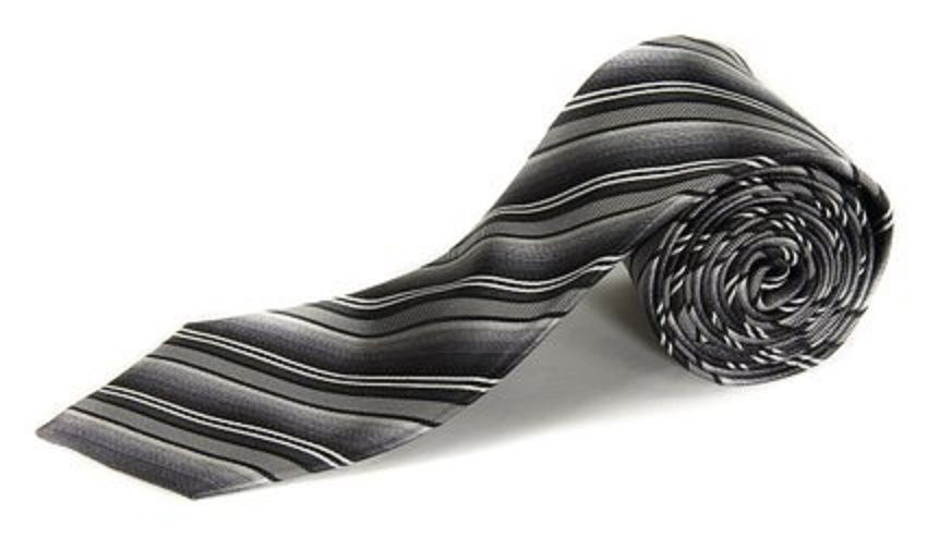 Alfani Spectrum AF201001282 Men's Electric Stripe Neck Tie Black / Multi