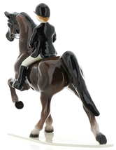 Hagen-Renaker Specialties Ceramic Figurine Dressage Horse with Rider image 5