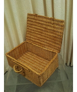 Wicker Suitcase Style Picnic Basket - $19.99
