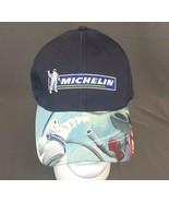 MICHELIN TIRES Michelin Man Hat Graphic Adjustable Strapback Blue Cap - $28.06