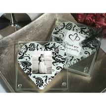 A Classic Heart Damask Pattern Photo Coaster - 36 Sets - $55.95
