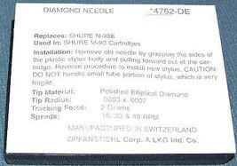 TURNTABLE STYLUS NEEDLE FOR SHURE HI TRACK N93 M93 N93E M93EP 4762-DE 762 image 3