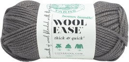 Lion Brand Wool-Ease Thick & Quick Bonus Bundle Yarn-Slate. - $19.64
