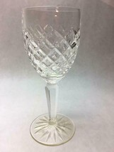 WATERFORD CRYSTAL Single WINE GLASS COMERAGH Pattern STARBURST Base DIAMOND - $39.59