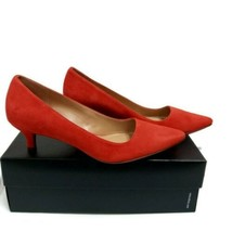 Naturalizer Suede 8M Pippa Papaya Red Shoes - $29.21